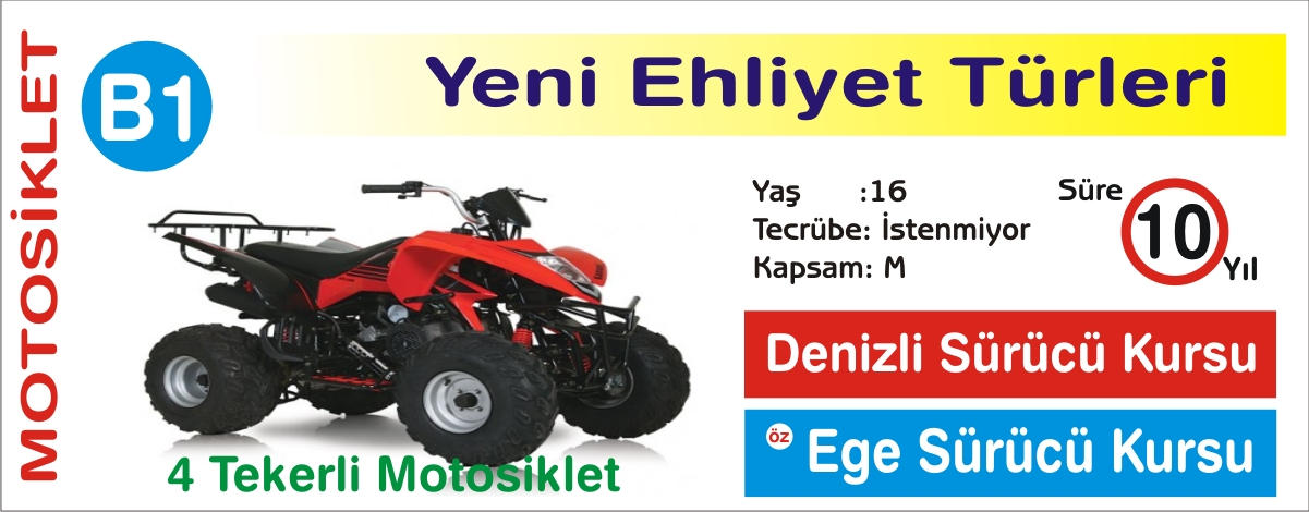 B1 4 TEKERLİ MOTOSİKLET