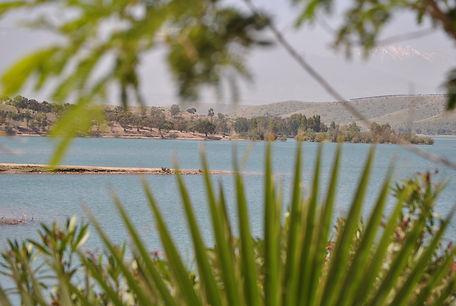 Vue du Patio du Lac, chambre d'hôtes Lalla Takerkoust