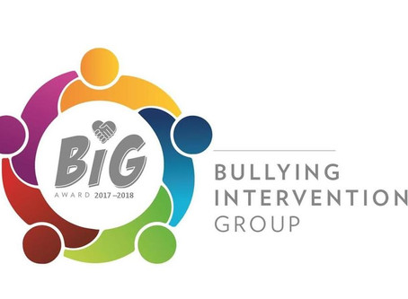 Heather Ridge is awarded the 'Big Award' for excellence in bullying intervention!