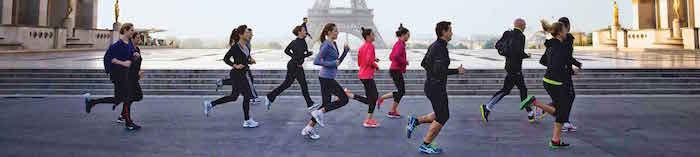 Paris-manhã-corrida