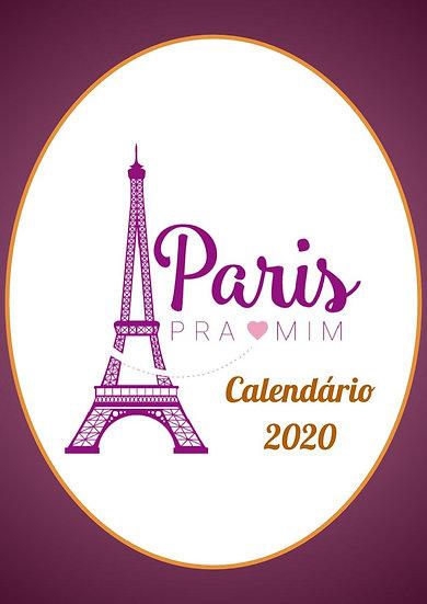 Calendário 2020 - Português/Retrato