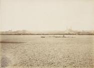 Vista do Champ de Mars antes da construção da Torre Eiffel - fevereiro 1887