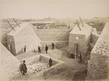 Fundações da Torre Eiffe em março de 1887 - Pierre Petit - Musée d´Orsay