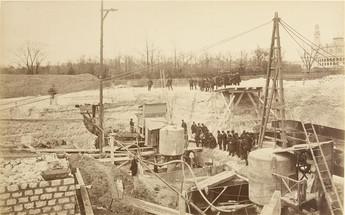 Construção em abril 1887