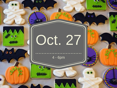 2nd Annual Halloween Cookie Decorating Workshop!