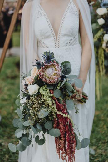 Gardening bridal bouquet