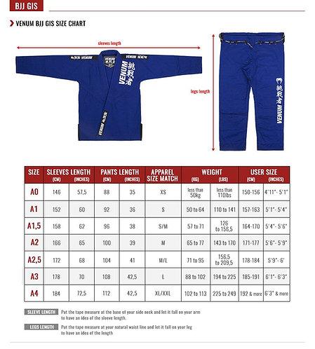 Kimono   Jiu-Jitsu GI`s Size Chart