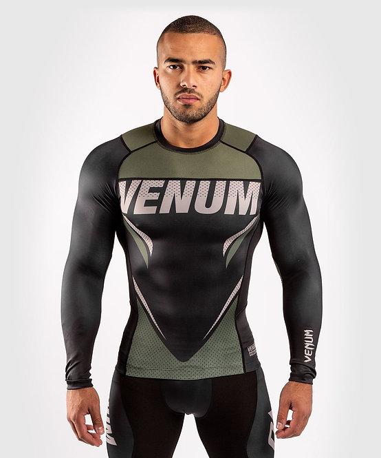 Venum ONE FC Impact Rashguard Long Sleeve - Black/Khaki