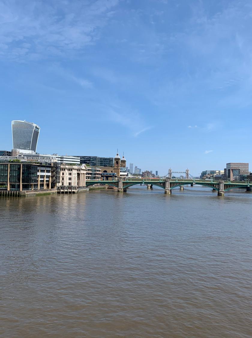 Empty River Thames