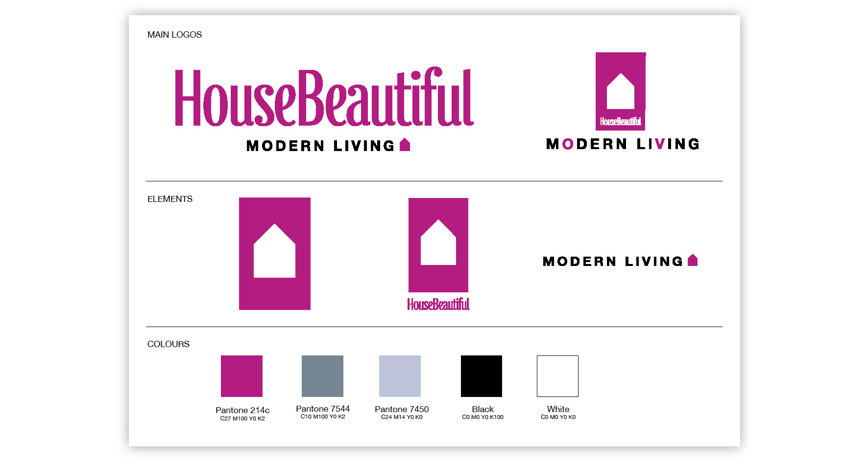 Sub brand logo and guidelines for House Beautiful
