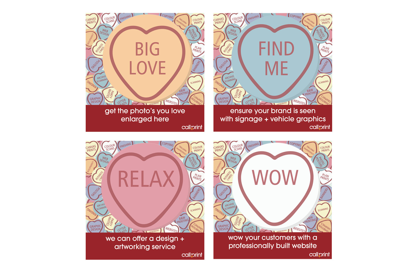 In-store valentines campaign for Callprint