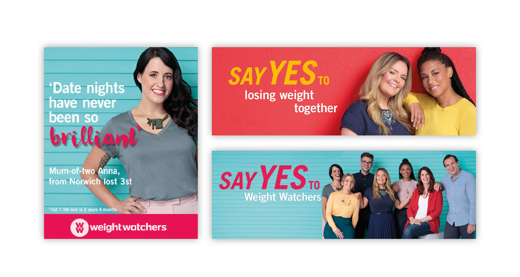 Social media banners for Weight Watchers