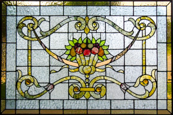 Restored leaded glass