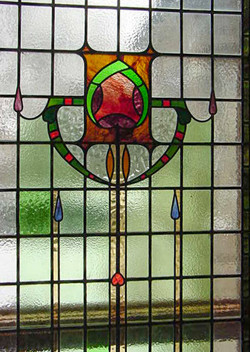 Glass window made by curran glass