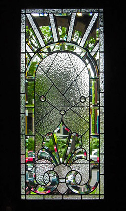 Beveled textured window