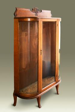 Bent cabinet glass restoration
