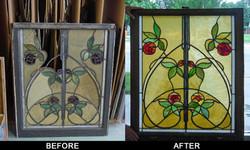Before/after glass restoration