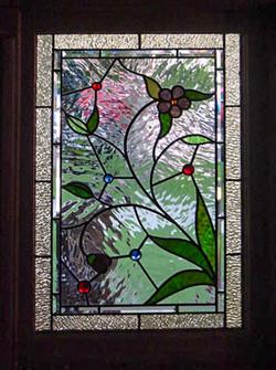 Textured leaded glass window