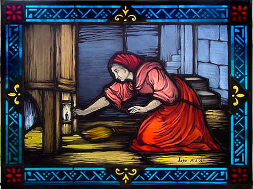 Painted stained glass