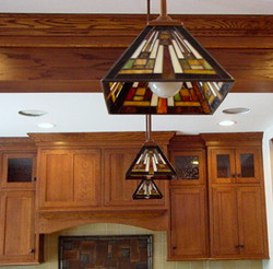 Custom leaded glass lamps