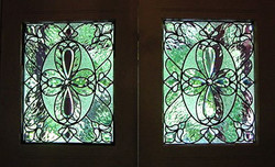 Beveled glass front doors