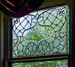 Hand beveled glass window