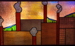 Modern textured stained glass
