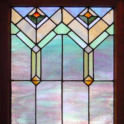Custom leaded glass window