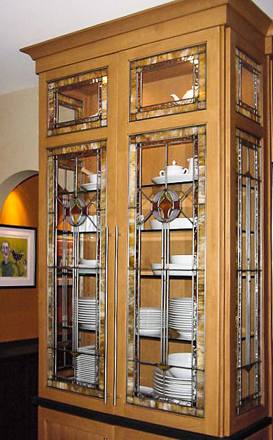 Custom leaded cabinet glass