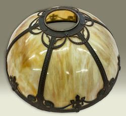 Antique bent glass lamp shade