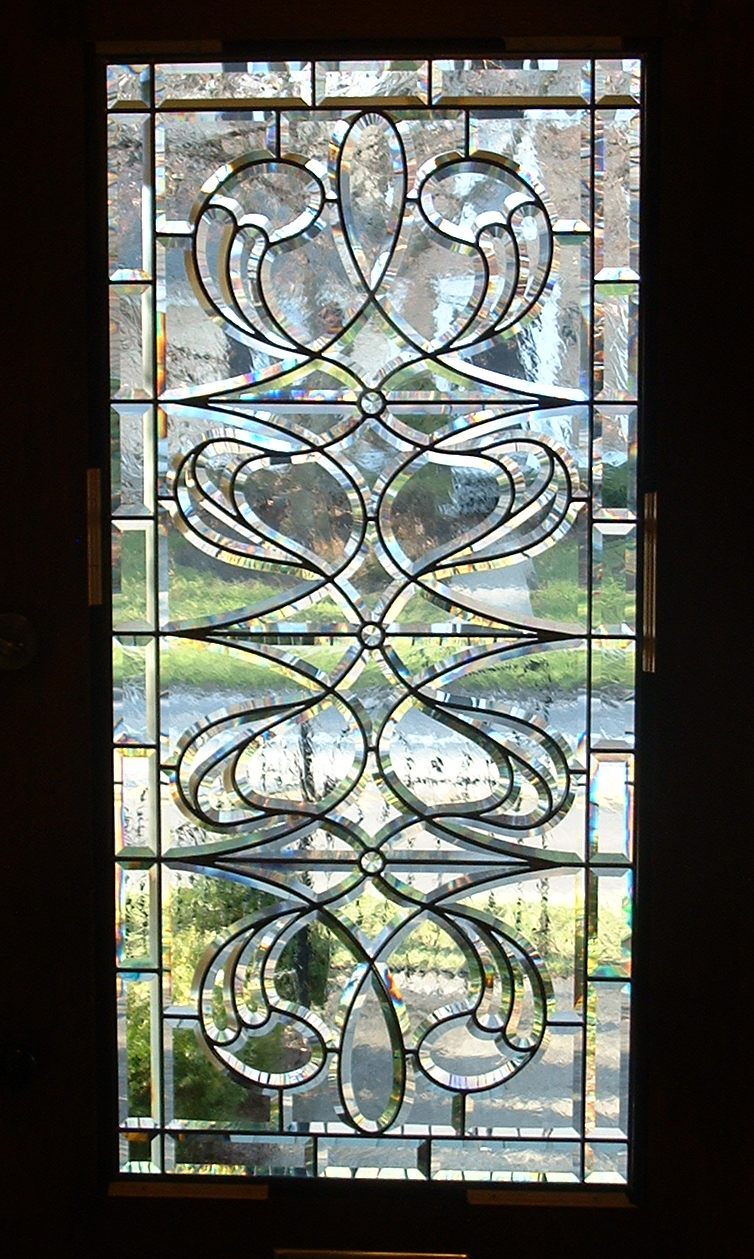 Hand-beveled glass