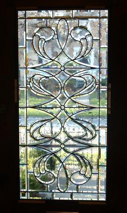 Hand-beveled glass
