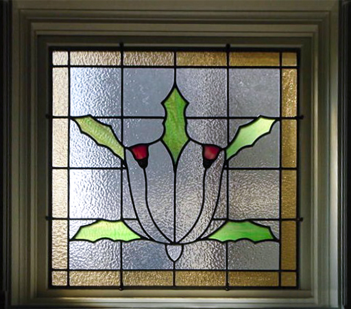 Modern leaded glass window