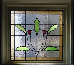 Modern leaded glass window