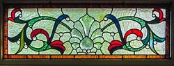 Window above door, handmade by us