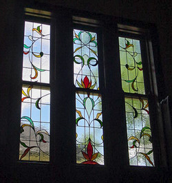 Leaded glass plant forms