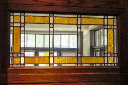 Art glass doors
