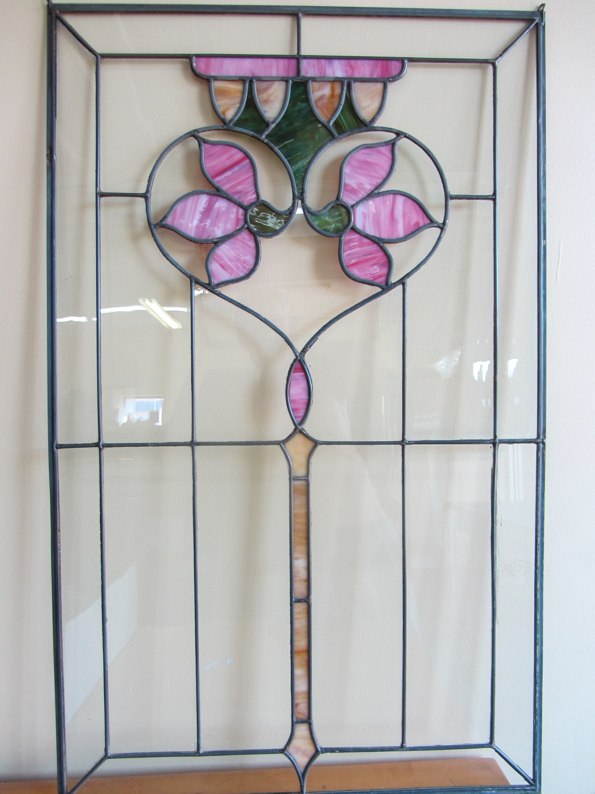 Custom leaded glass panel