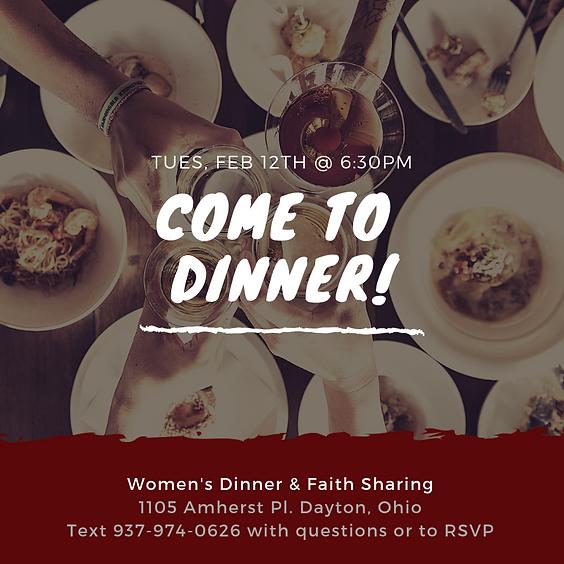 Women's Dinner & Faith Sharing
