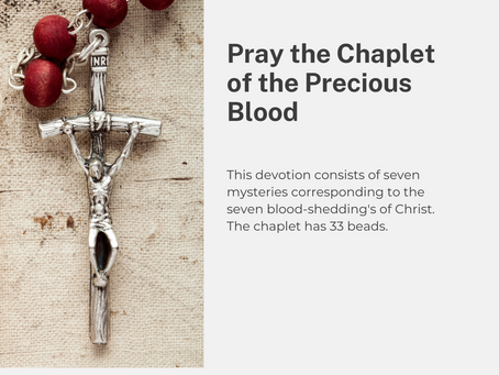 July is the Month of the Precious Blood