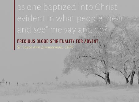 A Precious Blood Advent, 3rd Sunday