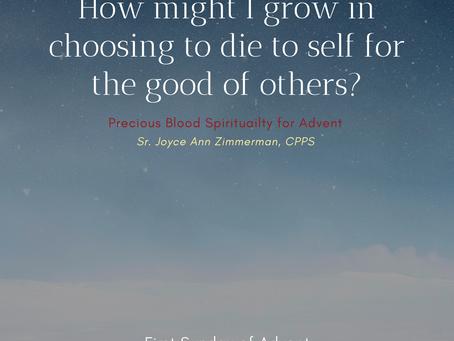 A Precious Blood Advent, 1st Sunday