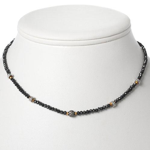 diamonds, oxidized silver, 18k & black diamonds