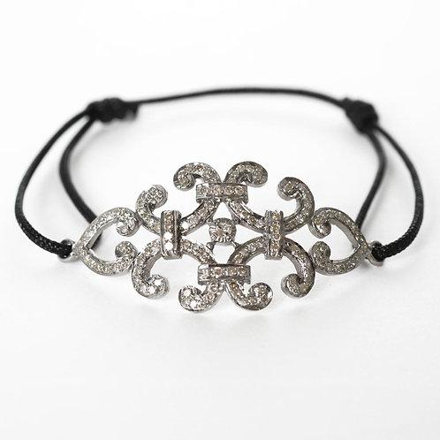 branché diamond oxidized silver