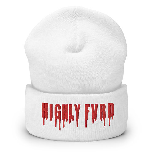 Highly FVRD Cuffed Beanie (Red Logo)