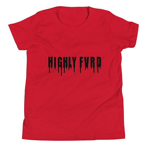 YOUTH Highly FVRD Drippy T (Black Logo)