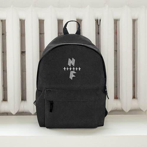 Highly FVRD Cross Embroidered Backpack