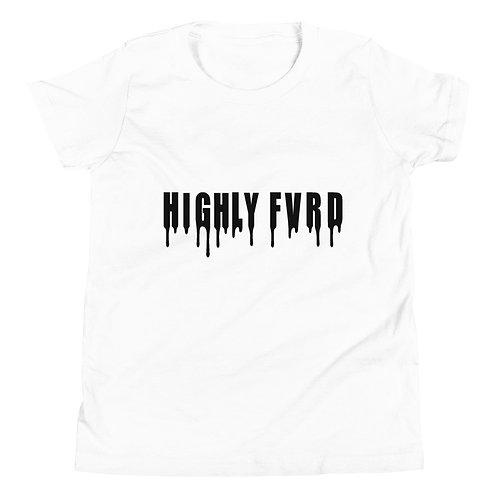 YOUTH Highly FVRD Drippy T (Black Logo)