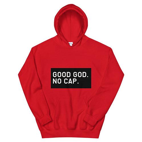 Good God. No Cap. Hoodie (Black Bkgr)