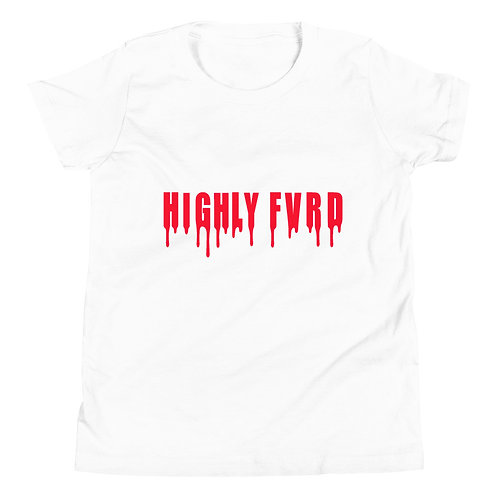 YOUTH Highly FVRD Drippy T (Red Logo)